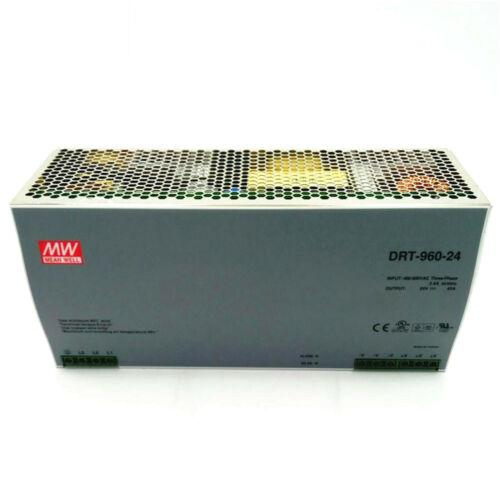 One New MEAN WELL DRT-960-24 24V 40A Switching Power Supply