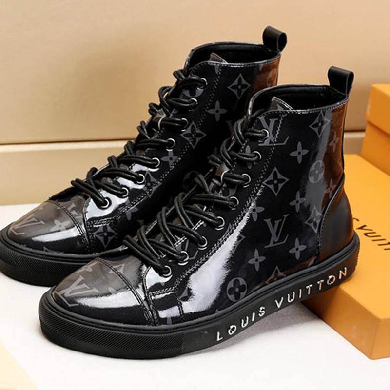 Uomo Scarpe Sneakers Fashion Boots Tatuaggio Sneaker Boot Scarpe Uomo Casual Scarpe De Hombre caviglia Tipo stivali di moda di lusso del Mens Shoes Drop Ship