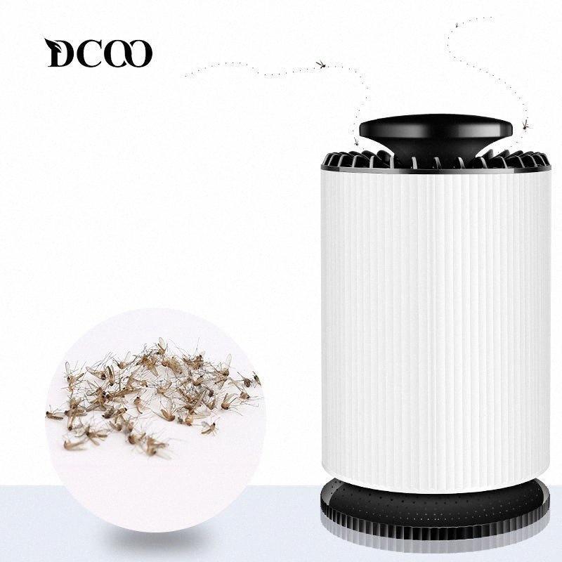 DCOO asesino del mosquito USB Bug Zapper eléctrico cubierta con 360 grados LED ventilador fuerte luz UV de la lámpara de succión Matar Mosquito lámpara 0GpH #