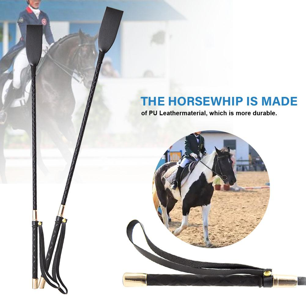 Lightweight PU Leather Riding Crop With Handle Lash Supplies Horse Whip Pointer