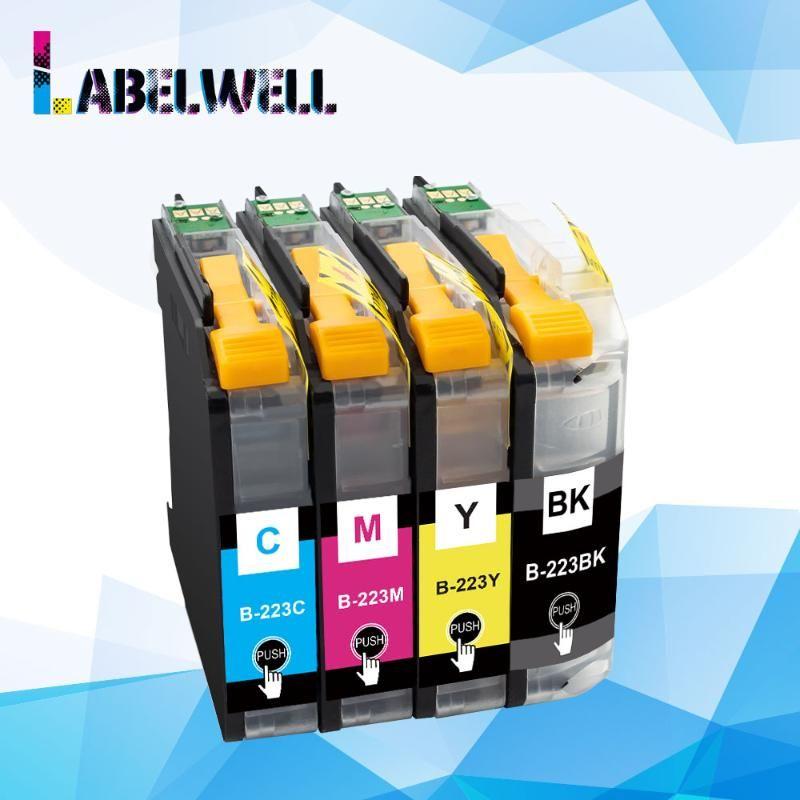 Labelwell 4x LC223 LC 223 Cartouche d'encre LC223XL compatible pour Brother MFC-J4620DW MFC-J480DW -J562DW -J4120DW MFC-J680DW