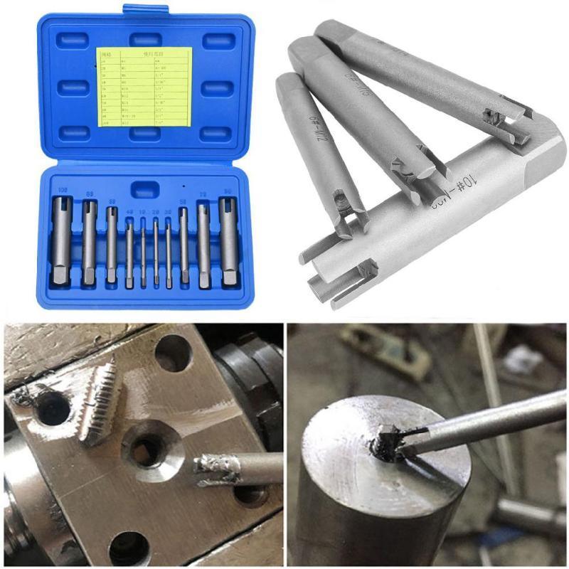 1 Set Screw Tap Extractor Steel Broken Head Taps Remover Stripped Screw Tap Extractor Set Remove Tools