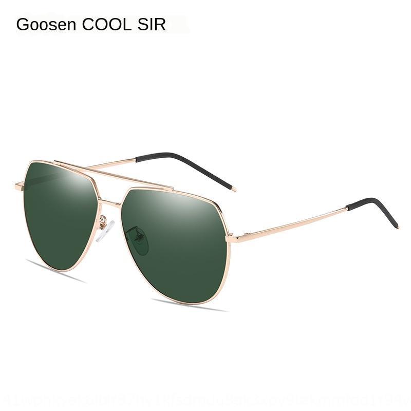 Erkekler yeni polarize güneş klasik istiridye 6017 parlama önleyici gözlük güneş gözlüğü polarize sürüş güneş gözlüğü