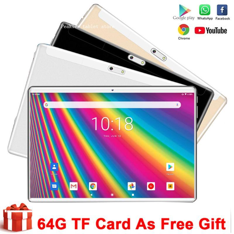 """WholeSale Phone Call Tablet Pc New Google GMS 10 inch Android 9.0 WiFi Bluetooth GPS 2.5D Tempered Glass Tablets pc 10.1""""+Gifts"""