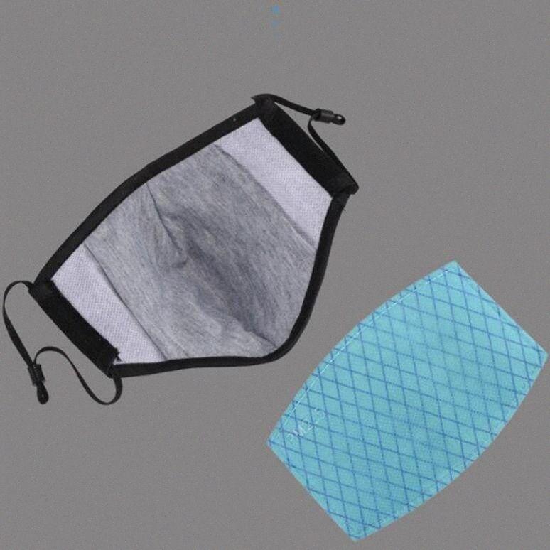4 azuis camadas filtrantes PM2.5 Máscara Anion Anti Poeira Anti Haze ativado máscara de carbono Mouth Filtros filtro somente LJJO7865 0tLF #