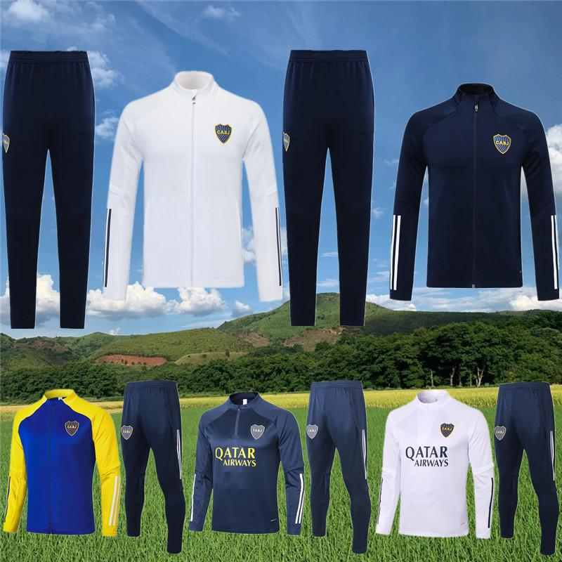 Boca Juniors Jackets Tracksuit 2020 21 Tevez Soccer Jogging De Rossi Training Suit Maradona Football Survetement