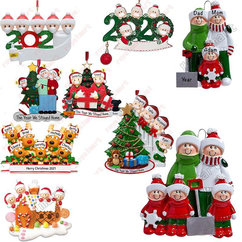 크리스마스 장식 DIY 인사말 2020 격리 크리스마스 생일 파티 유행성 사회적 거리 크리스마스 트리 펜던트 액세서리