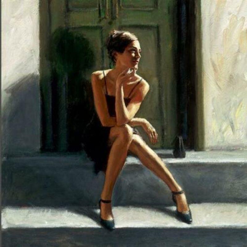 Fabian Perez espera para o romance Come Back - Lucy Home Decor Artesanato / HD impressão pintura a óleo sobre Wall Art Canvas Canvas 200810