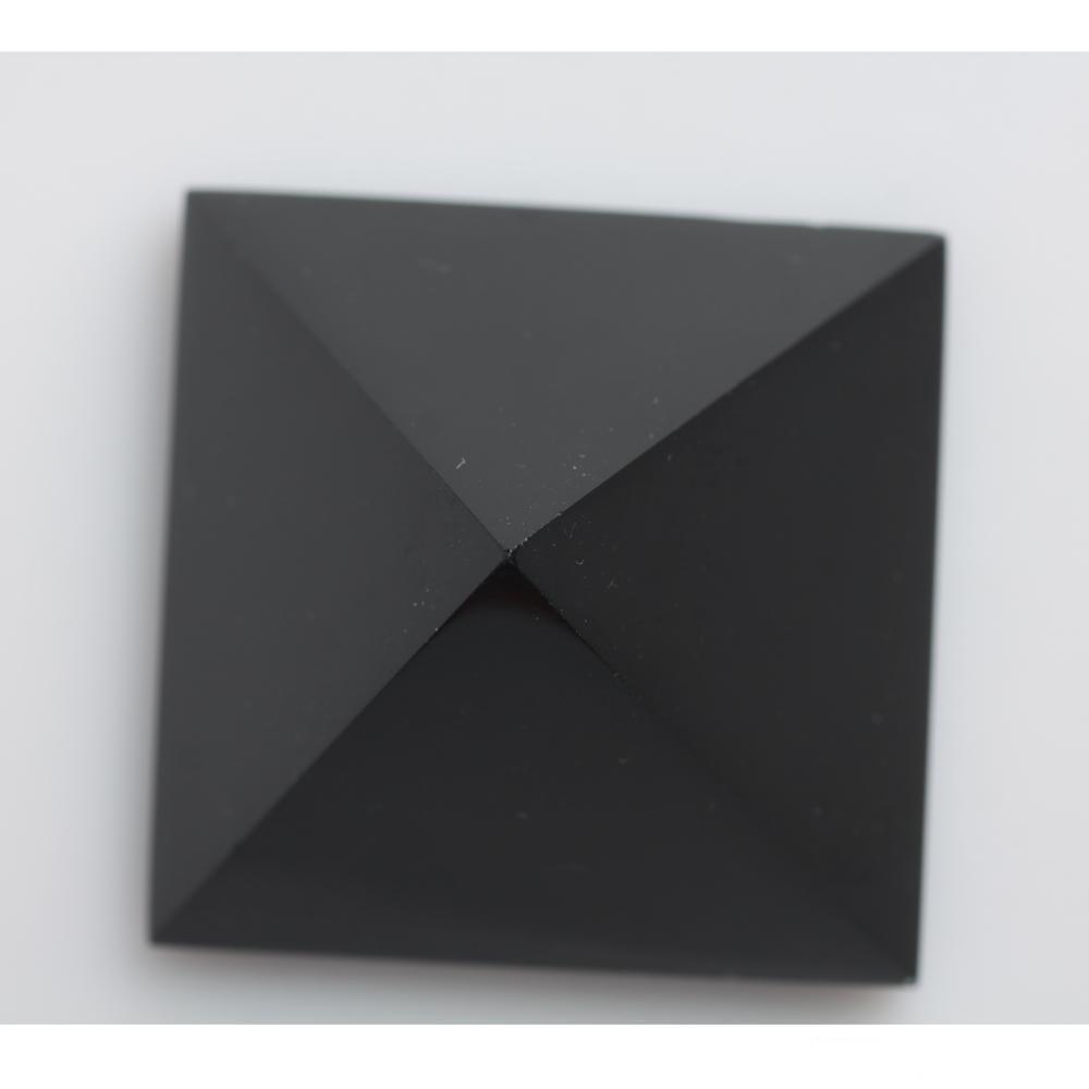 Reiki di cristallo di 5,6 centimetri piramide quarzo Ossidiana 178g naturale Nunatak Healing hjt all'ingrosso nero della decorazione xhlight KrMof