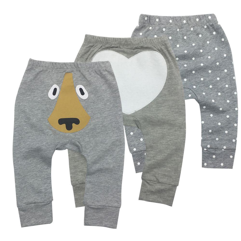 3 peças / lote Calças Baby Comprimento roupa do bebê dos desenhos animados da criança da menina do menino Leggings completa cintura elástica Crianças Pant Calças MX200811