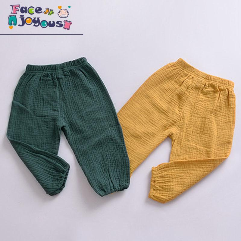 Girls Cotton Pants Children Trousers Baby Clothes Boys Bloomers Pure Color Kids Casual Leggings Pants 2019 spring Autumn New MX200811