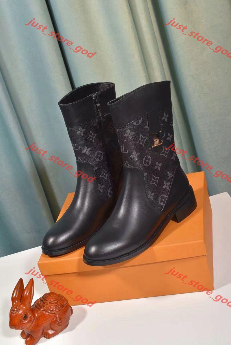 2020 Brad moda luxe tasarım kadın ayakkabıları orta botları süper yeni kalın topuk çizmeler kadın ayakkabıları yüksek kalite kısa botlar luxe yıldızı