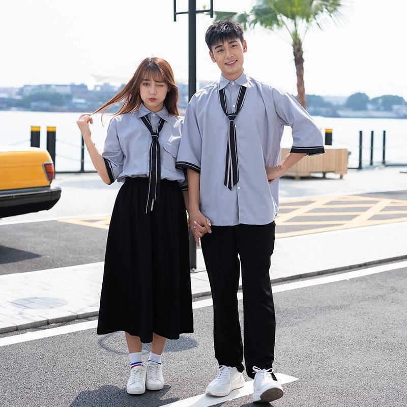 HKnmF traje de estilo del otoño de clase uniforme de estudiante británica de clase alta secundaria uniforme ins traje de Corea del estilo de la escuela coreana