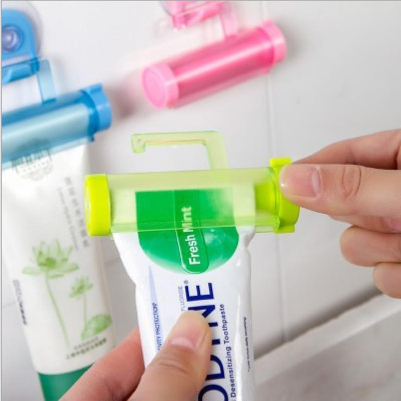 Crema Dental Accessori Bagno manuale Pistola Siringa Holder Dispenser rotolamento Squeezer dentifricio Tubo Sucker