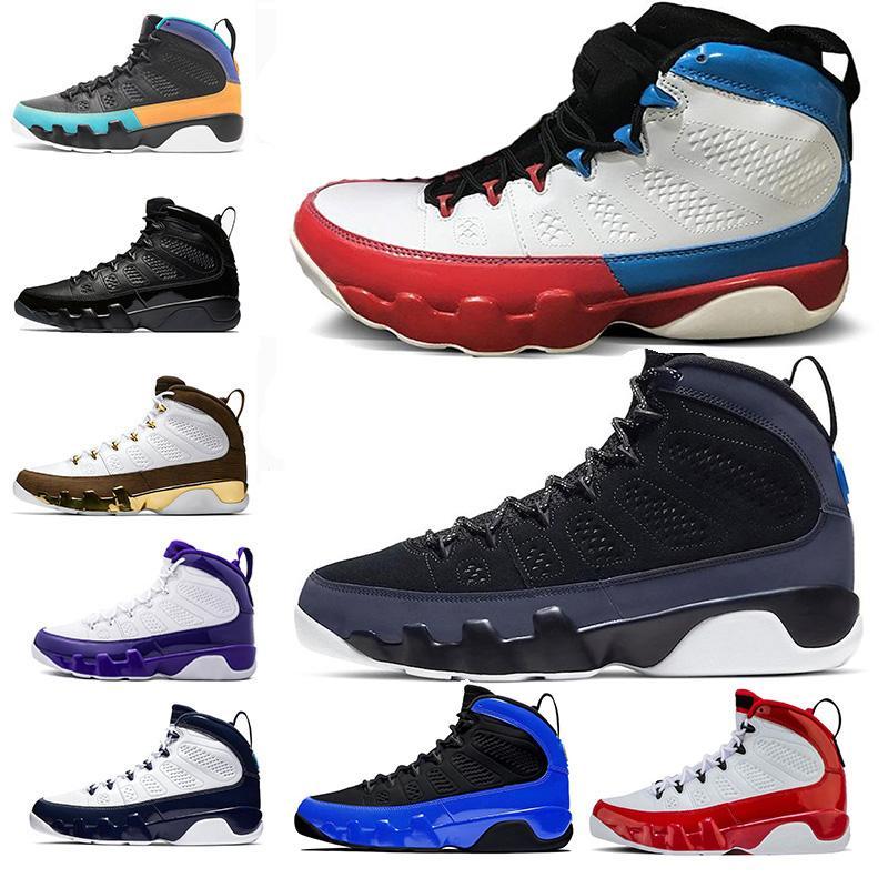 Baratos Nova 9 9s Racer azul Chameleon tênis de basquete Gym Red Bred Sonhe-UNC Space Jam Antracite Mulheres Homens treinadores desportivos Sneakers