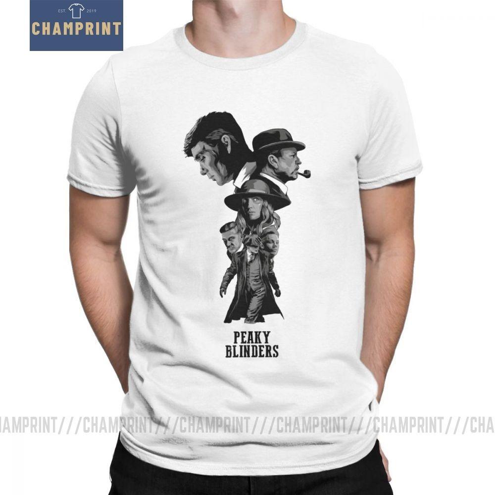 Peaky oeillères Graphic T - shirt Homme T-shirt Funky 100% coton à manches courtes T-shirt rond T-shirts col blanc Vêtements