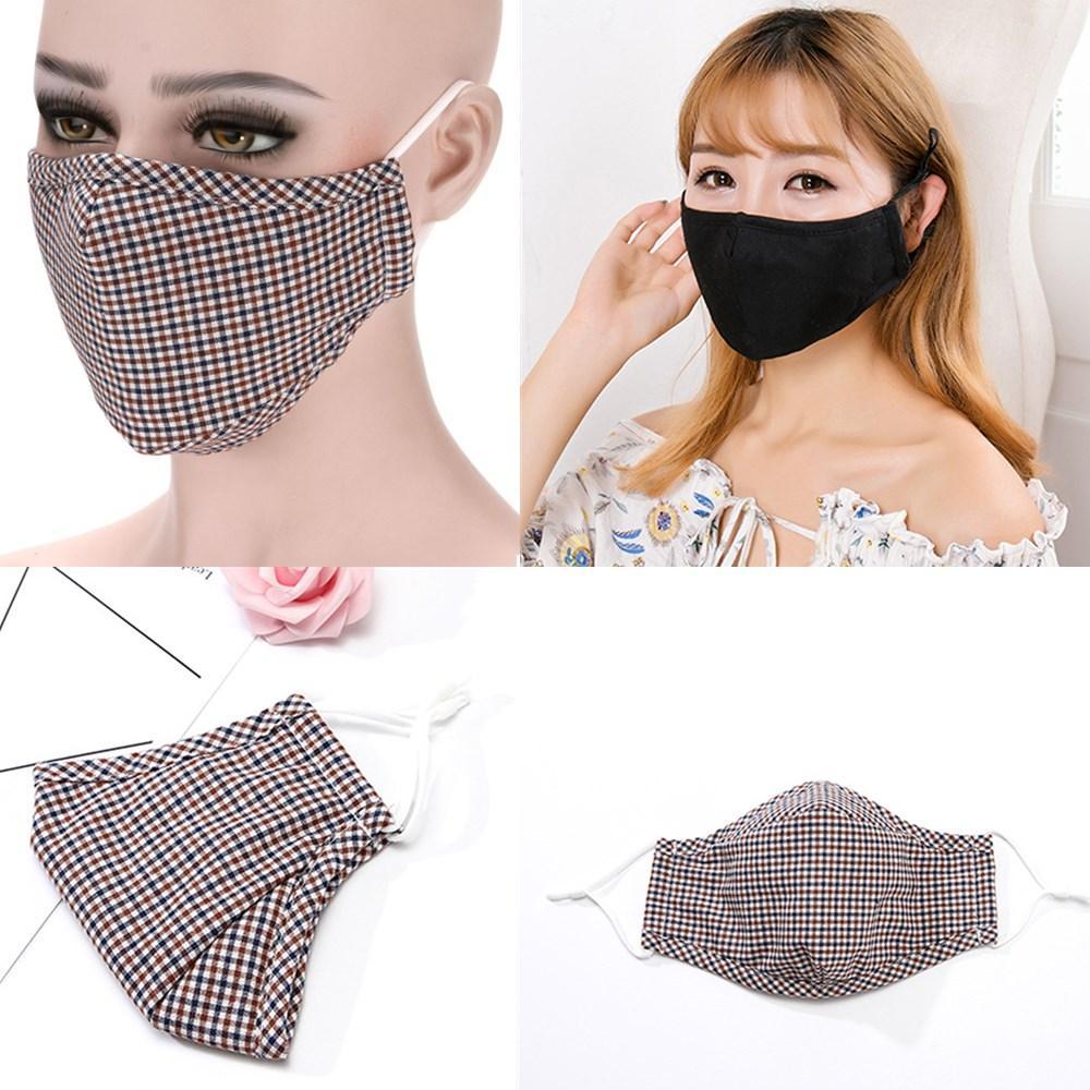 Neue Gesichtsgesicht Atmung PM2.5 Mundmuffel Anti-Staubwaschbare und wiederverwendbare Abdeckung Anti-Haze-Maske ohne Für Ventil und Männer Masken Frauen NGMLR