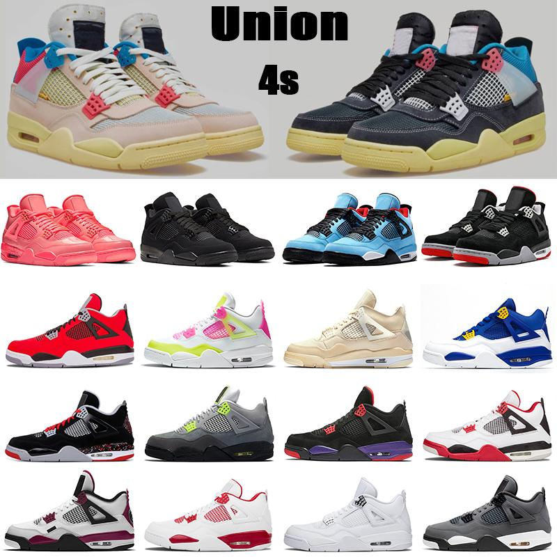 nike air retro jordan 4s scarpe da basket da uomo 4 mens 4s nero rosso CITRON PALLA cemento bianco PURE MONEY OREO ALTERNATE Ali sneakers sportive uomo JUMPMAN 40-47