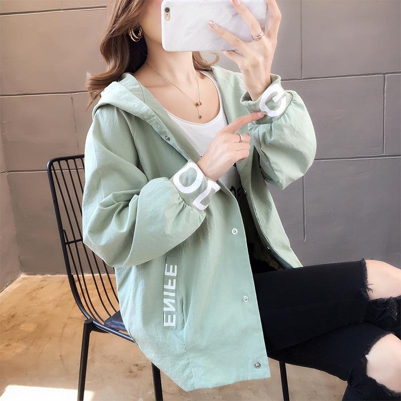 CwoRX 2020 Mantel Hoodie Herbst / Winter NewStyle Internet-Berühmtheit koreanische lose Top-Studenten der koreanischen Art Hoodiemantel für Frauen