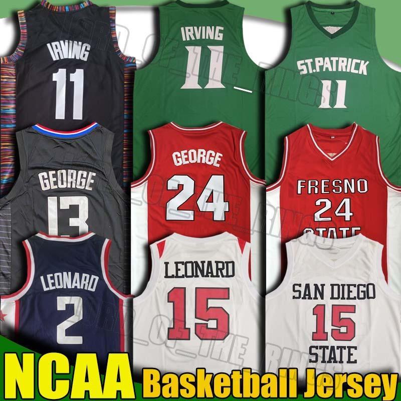 NCAA San Diego Universidad de New Kawhi 15 Leonard Paul George 13 jerseys Kevin Durant 7 de New Jersey Kyrie Irving 11 Escuela de Baloncesto