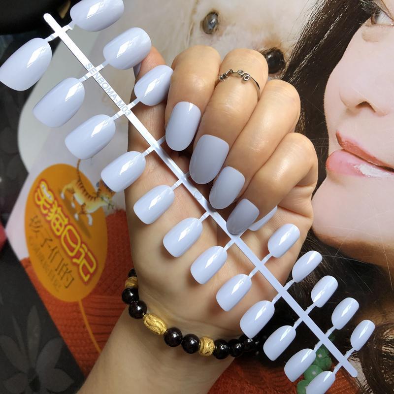 Gel UV Cover bonbons lait violet clair tête ronde faux ongles brillant ongles Conseils enveloppement complet gel vernis à ongles Faux ongles bricolage