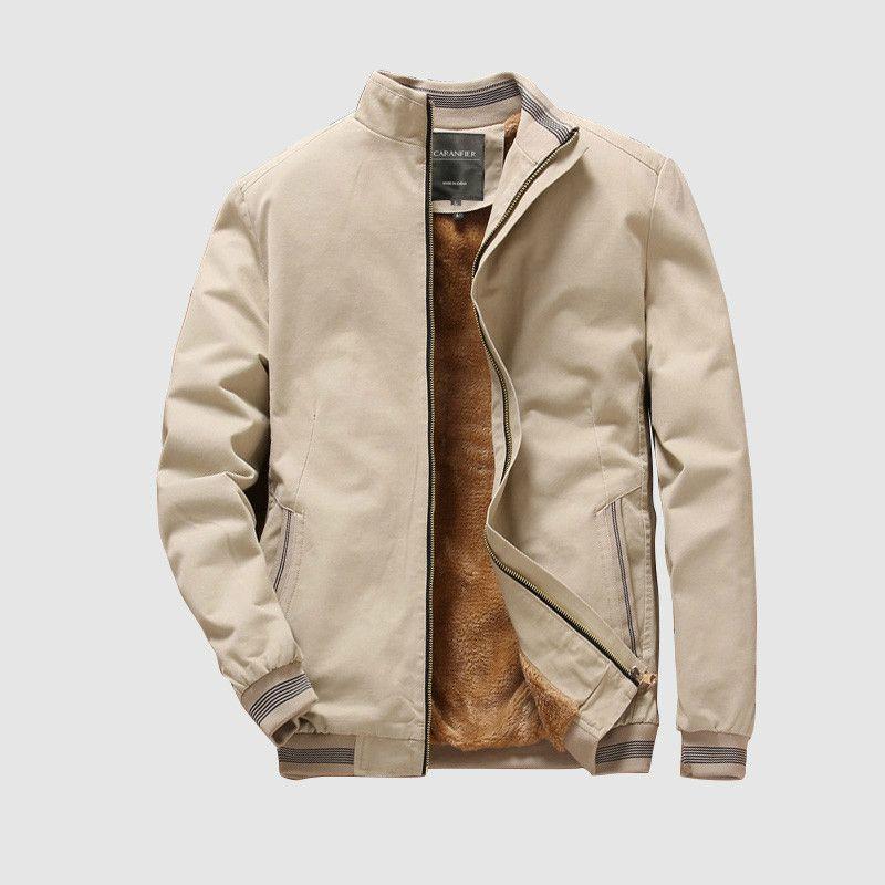 Bombardero chaquetas para hombre otoño Casual Male Outwear el paño grueso y suave caliente grueso de la chaqueta cazadora militar de béisbol Ropa Ropa Capas