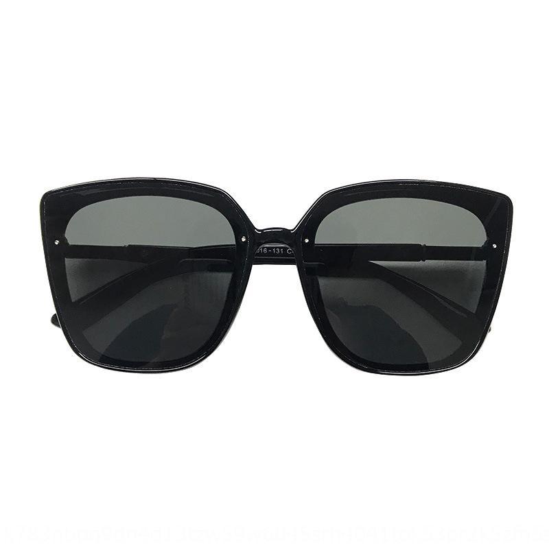 calle cara celebridad disparó estilo gafas de sol polarizadas de Corea de las mujeres ins nueva cara grande de adelgazamiento de Internet ronda UV a prueba de gafas de sol I9LfO