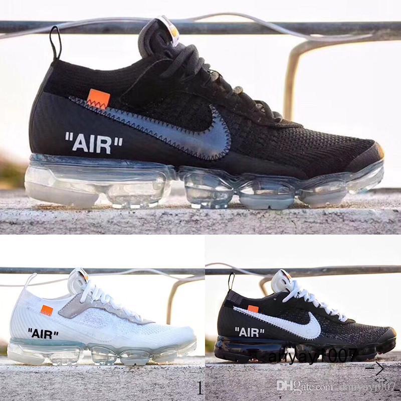 Nike Vapormax air max 2018 Venta Fly 2.0 II de punto FK 2.0 zapatos para hombre zapatos West VPM ocio Negro Blanco zapatillas de deporte ocasionales respirables Tamaño 36-46 YUE