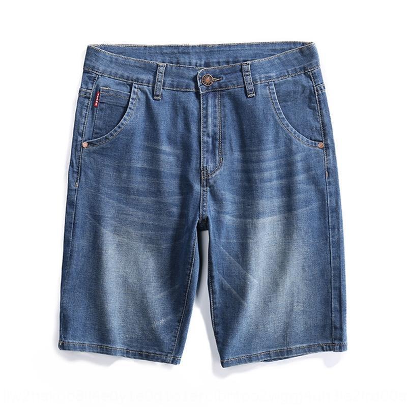 Olo1G Sommer neue Art und Weise br Hosen Farbe Größe Jeans Herren-lose Fünf-Punkte-gerade Männer und lässiges Licht und Jeans modische Hosen