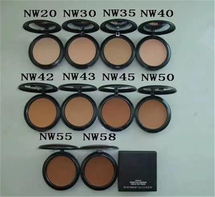 High quality M NC NW powders puff 15g Foundation Professional Makeup Face Pressed Powder DHL free shipping