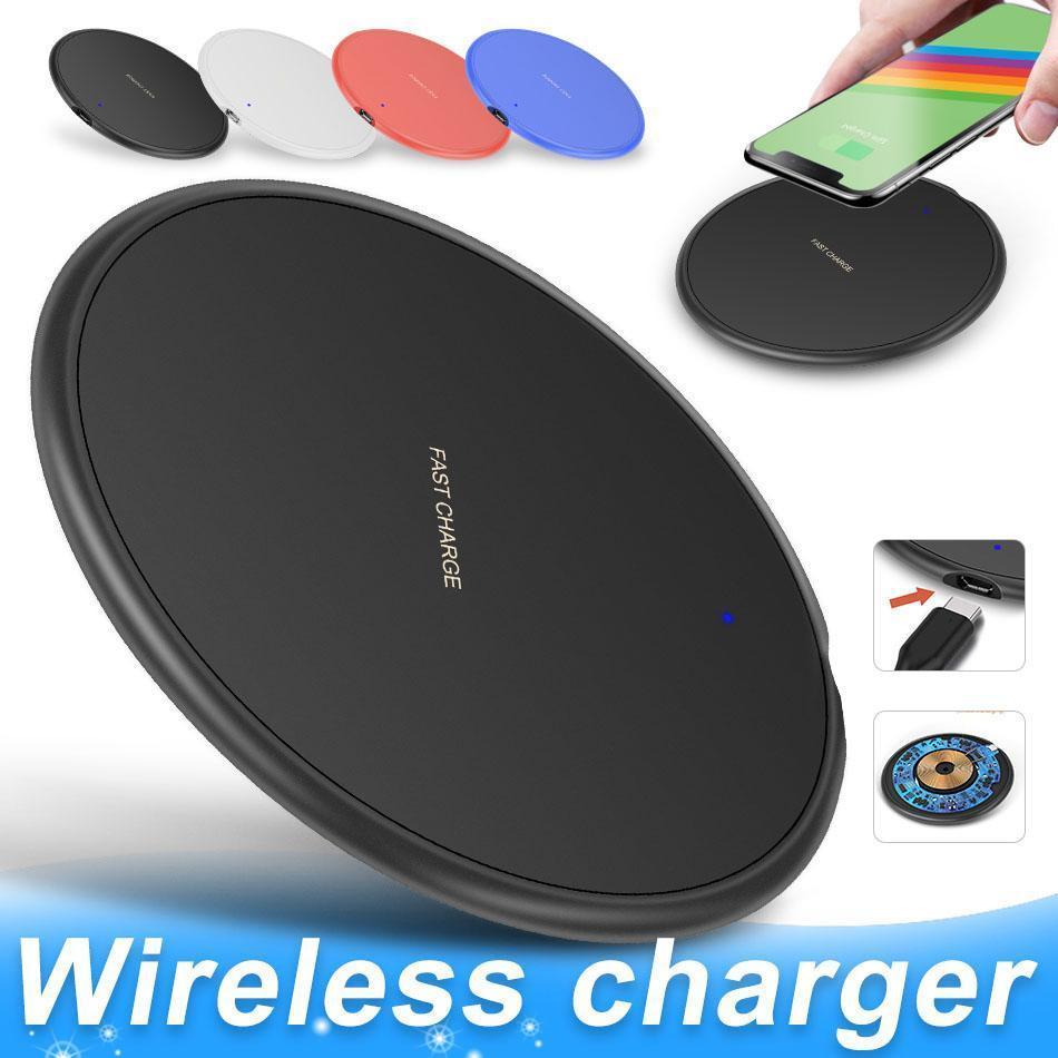 10W veloce iPhone caricabatterie senza fili per il 11 Pro XS Max XR X 8 Inoltre USB Qi Charging Pad per Samsung S10 S9 S8 bordo Nota 10 con scatola al minuto mq50