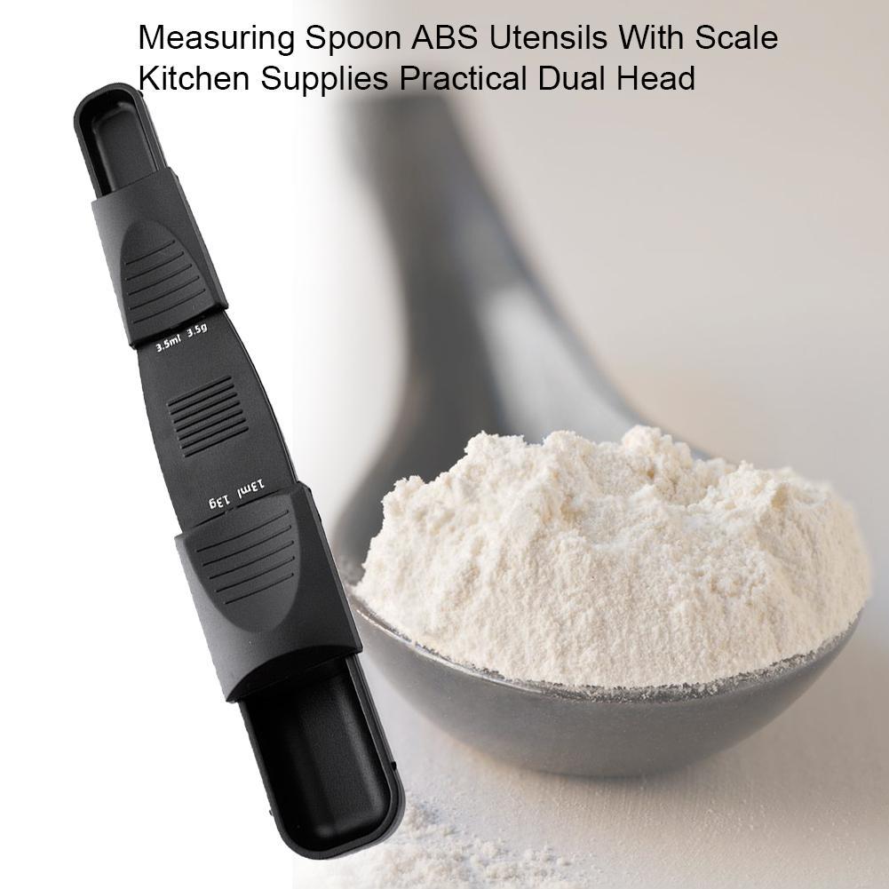 Colher de medição ABS Utensílios Com Escala Kitchen Supplies Prático cabeça dupla