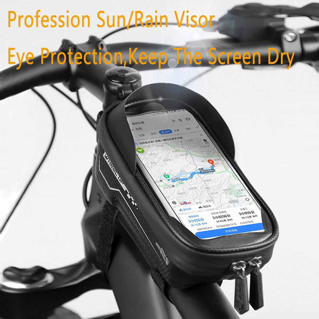 Touch Screen Bike Phone Case 6.5in Cycling Bag Top Tube Pannier Pouch Bicycle