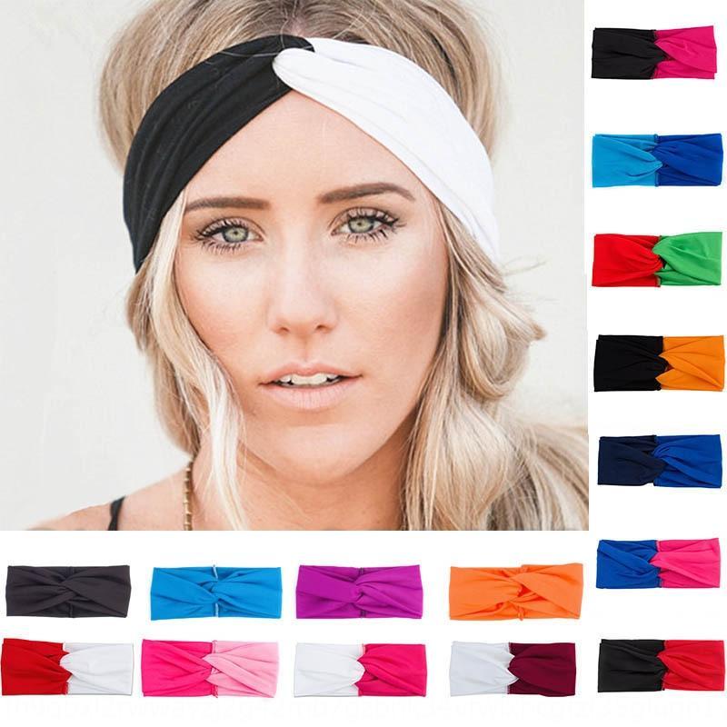 axrmF Contrast Head Горячей продажи женщины двух- соответствия цвета тянуть крест спортивных диапазона волосы многоцветного диапазон волос