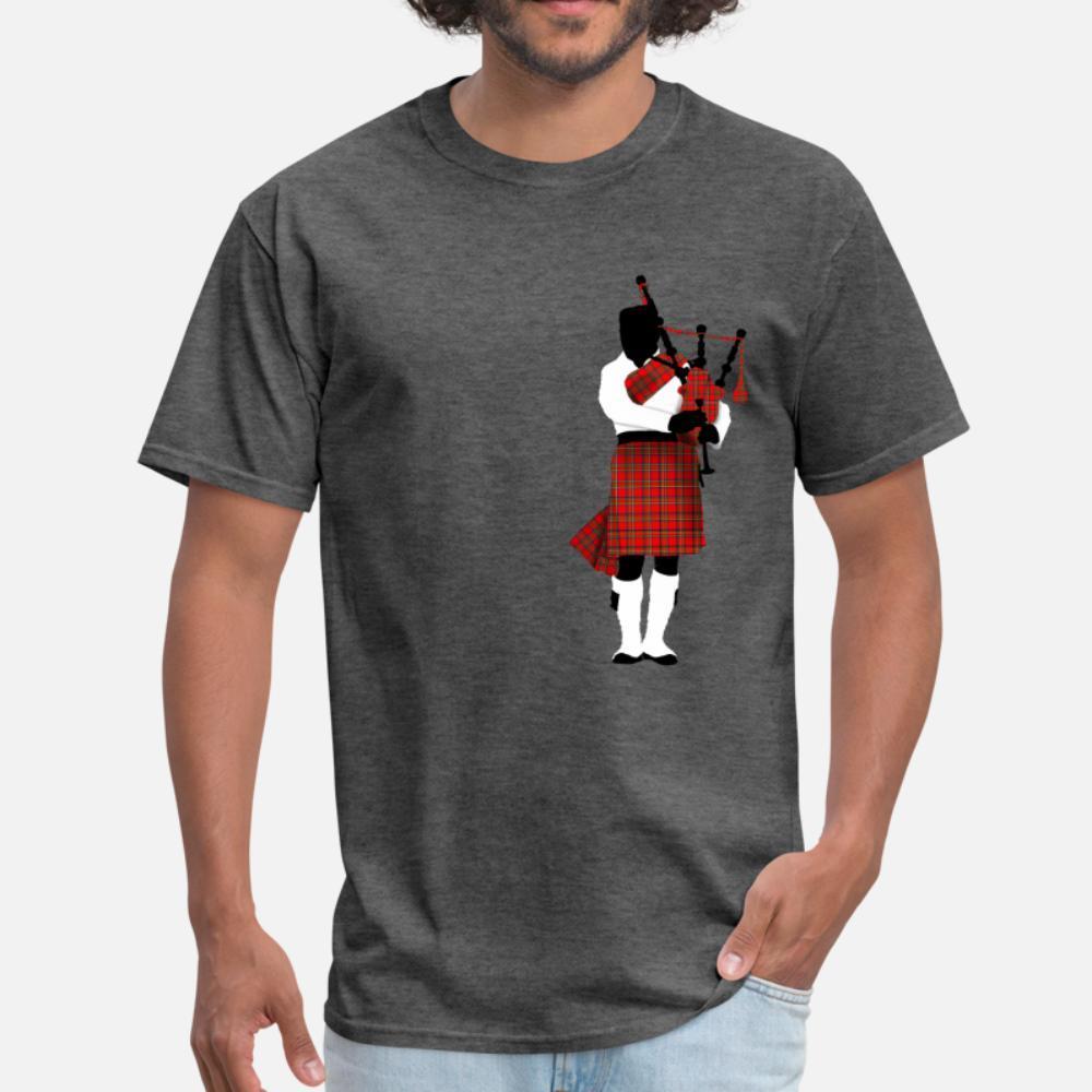 Gaitas música músico hombres de la camiseta del diseñador 100% algodón S-3XL de la ropa camisa anti-arrugas básico Estilo Fotos de verano