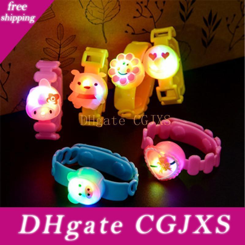 Luminous führt greller Armband Farbwechsel Uhr-Partei-Verein-Stadiums-Geschenk-Feiertags-Party für Kinder Geschenk-Licht Q0808