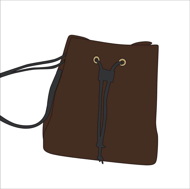 Sıcak satış moda markası çanta tasarımcısı marka deri kova çanta kadın omuz çantası Retro baskı haberci cüzdan