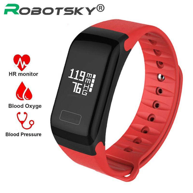 Sportarmband Blutdruck Herzfrequenzmonitor Nachricht Reminder Bluetooth Fitness für Android IOS Smart-Armbanduhr