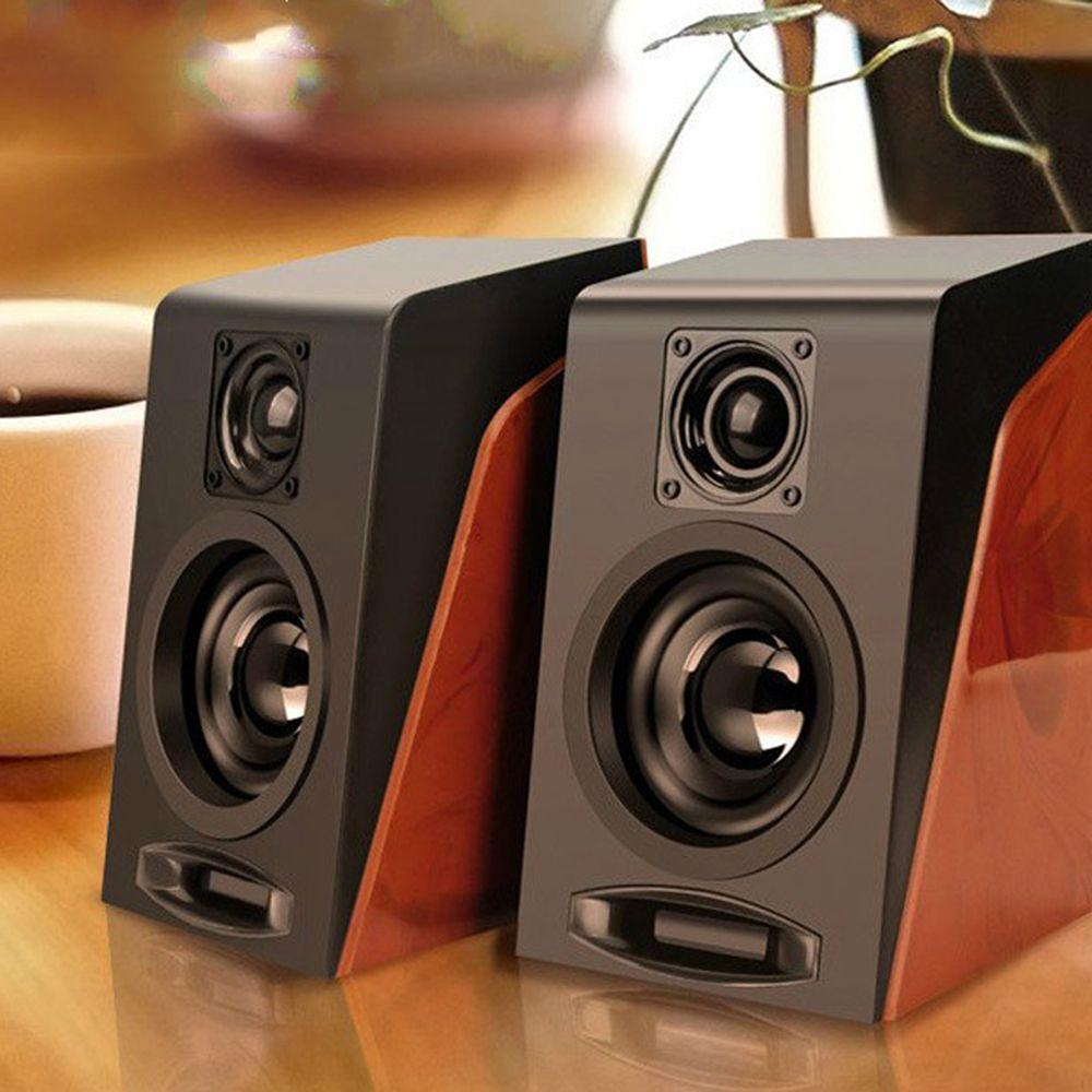 USB سلكي مزيج خشبي المتحدثين مكبرات الصوت الكمبيوتر باس ستيريو الموسيقى مشغل مضخم الصوت مربع الصوت لهواتف الكمبيوتر