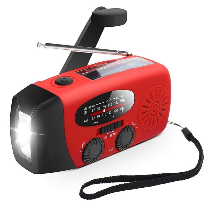Solaire améliorée Radio Radio Dynamo AM / FM / NOAA Prévisions météorologiques Radio de la radio Haut de la Capacité de 2000MAH