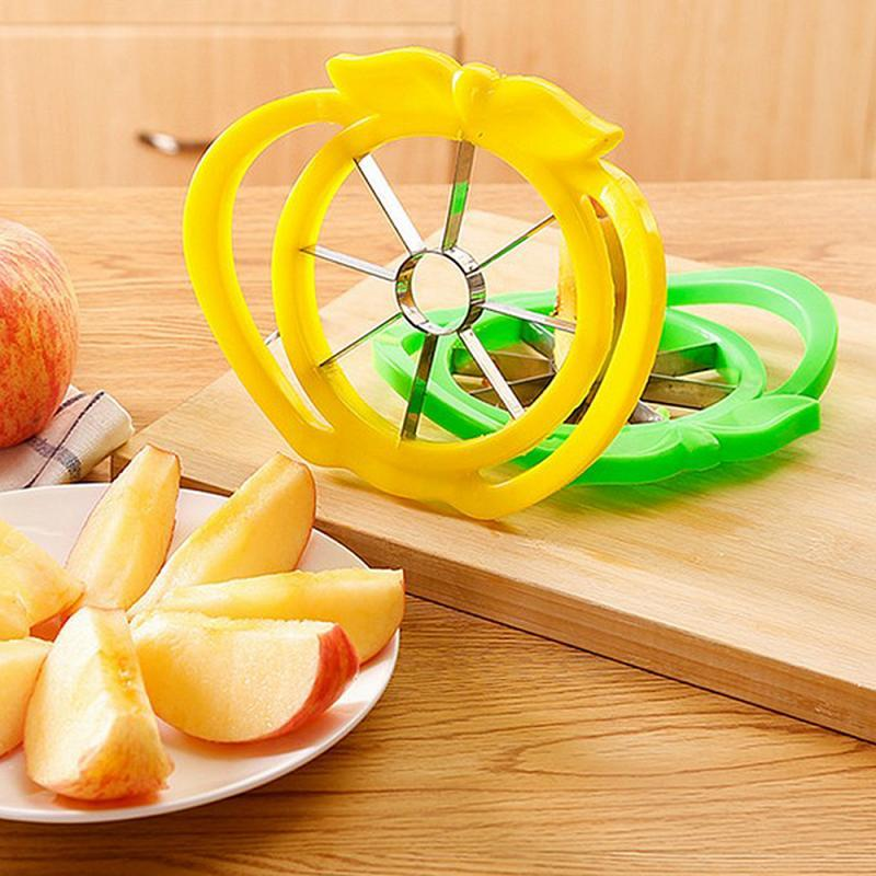 Free Shipping Stainless Steel Kitchen Apple Slicer Corer Cutter Pear Fruit Divider Tool Comfort Handle for Kitchen
