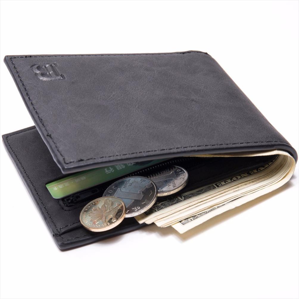 Monederos de calidad billetera negra hombres tarjeta cartera monedero dinero onvbh moneders hombre hombre bolso bolsillo bolsas carteras de cuero monedas hombre corto PU pequeño DKXGD