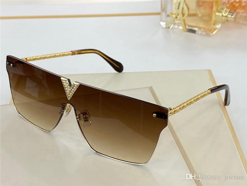 Новый дизайн моды очки 1111 качество UV400 стиль дизайн кошачий глаз щит объектив бескаркасных алмазов тенденции моды топ защитные очки