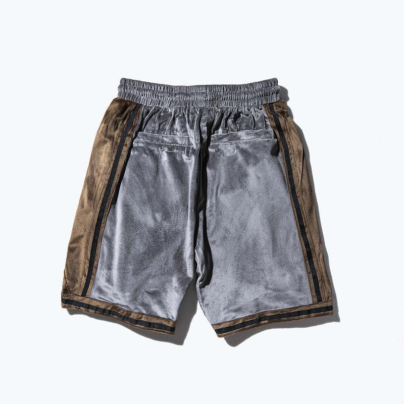 Hip-hop gevşek TKPA Amerikan sokak karışık renkler sarkmış gelgit marka erkek spor pantolon kadife erkek gündelik şort işlemeli