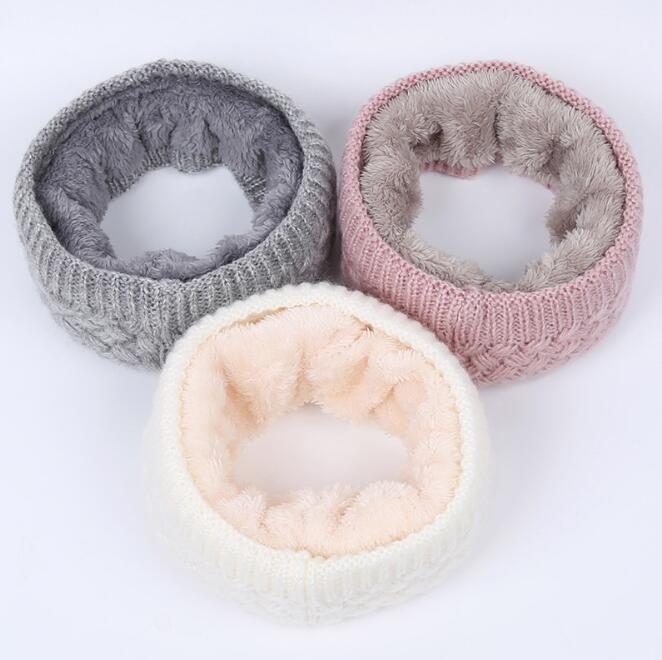 2020 nouvelles tricot pure laine de couleur pour hommes chauds d'hiver et les femmes et snoods écharpe collier épais de velours