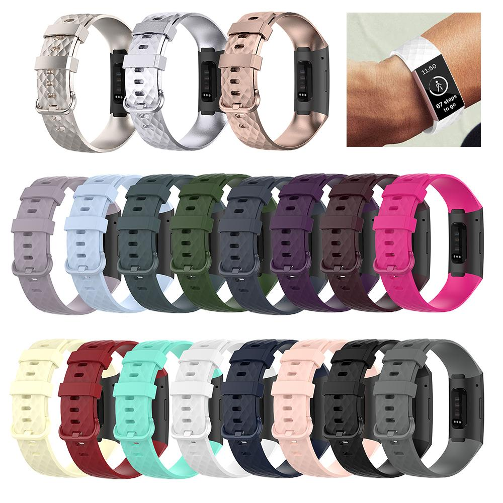 Watch Strap For Fitbit Charge 4 Bracelet Sport Watch Bands Silicone Wristband For Fitbit Charge 3/3 SE Accessories