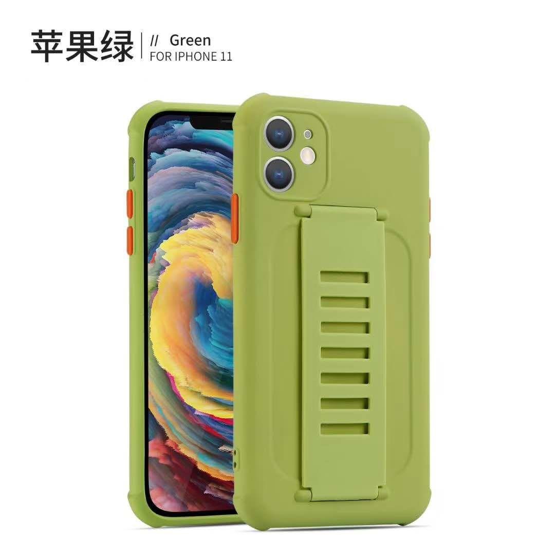 Personalizado nueva pintura UV TPU caja del teléfono de la impresión con el soporte de correa de muñeca para iPhone 12Pro X XS MAX 8plus