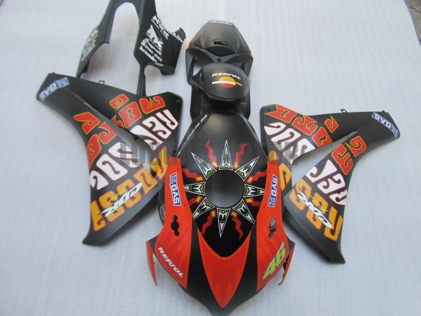 Injection Fairings kit+gifts for HONDA CBR1000RR 2008 2009 2010 2011 CBR1000 RR 08 09 10 11 body cover+windscreen #BLACK #45d8h