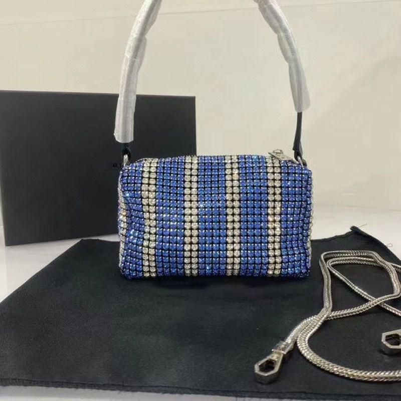 2020 рынк роскошных дизайнерских кошельков сумочек высокого качества Алмазный Блестящая малый квадрат мешок вечерней моды сумочку