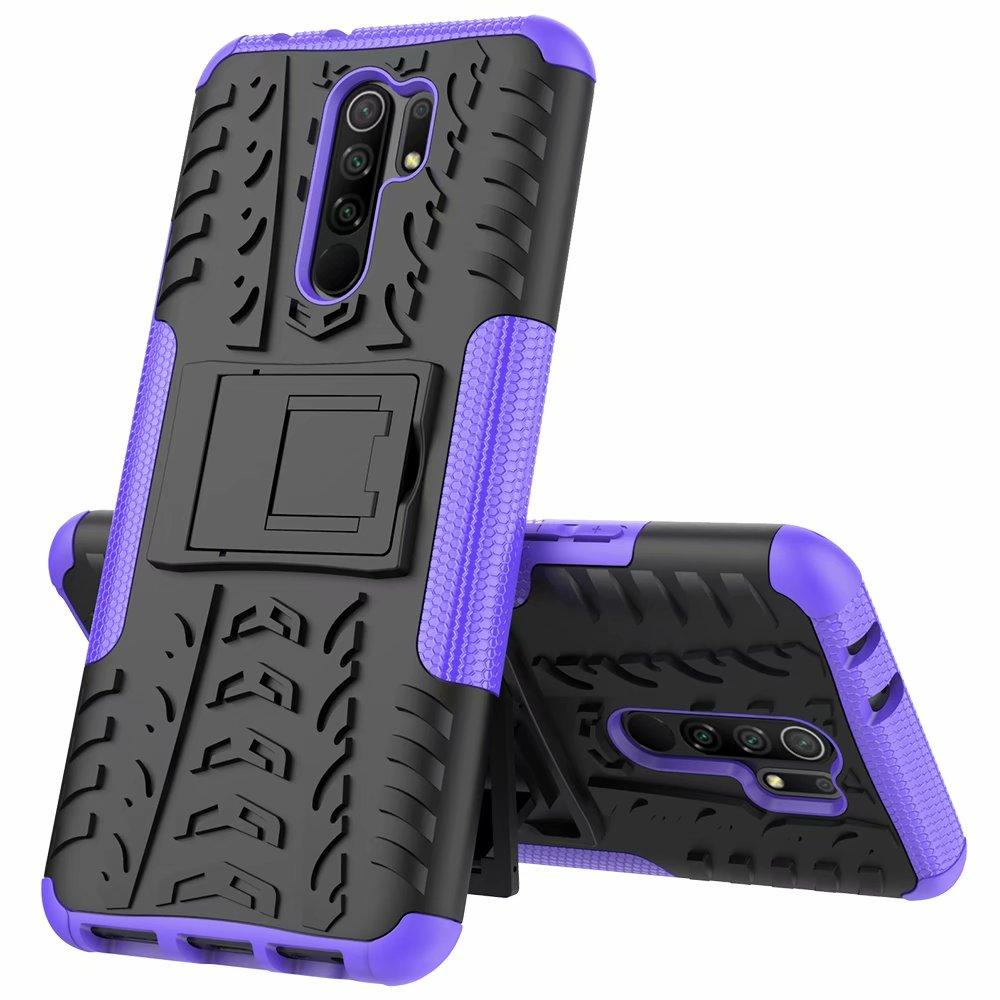 Hybrid KickStand Impact Roble TPU + PC Funda a prueba de golpes para Redmi 9 9A 9C 8 8A 10x 5G K30 Pro Note 9 Pro Note 8 Pro 160pcs /